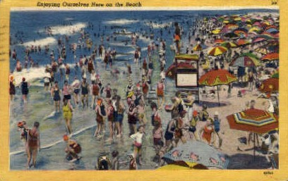 Enjoying Ourselves here on the Beach - Misc, New Jersey NJ Postcard