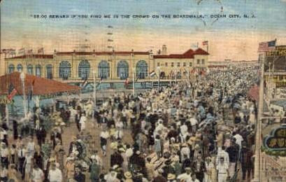 The Boardwalk - Ocean City, New Jersey NJ Postcard