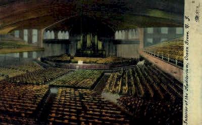 Interior of the Auditorium - Ocean Grove, New Jersey NJ Postcard