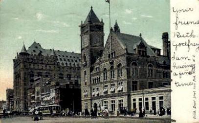 Broad St. from Park - Newark, New Jersey NJ Postcard