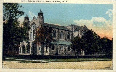 Trinity Church - Asbury Park, New Jersey NJ Postcard
