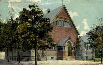 Christ P.E. Church - Trenton, New Jersey NJ Postcard