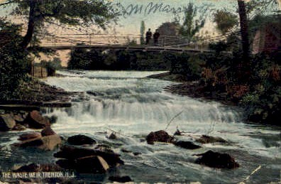 The Waste Weir - Trenton, New Jersey NJ Postcard