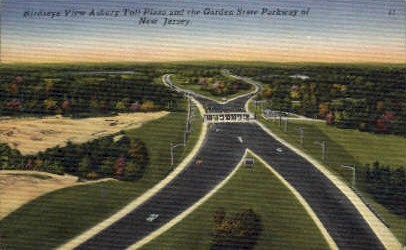 Toll Plaza & Garden State Parkway - Misc, New Jersey NJ Postcard