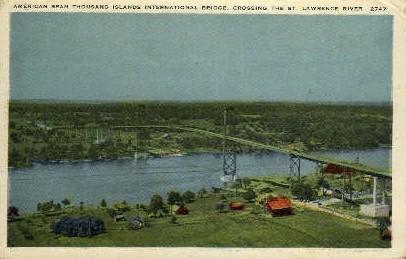 Thousand Islands International Bridge - Misc, New Jersey NJ Postcard
