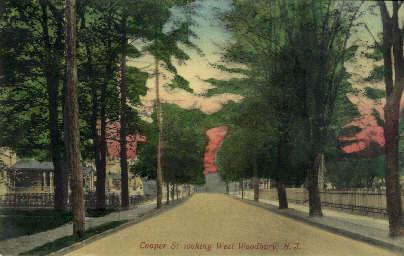 Cooper Street - West Woodbury, New Jersey NJ Postcard