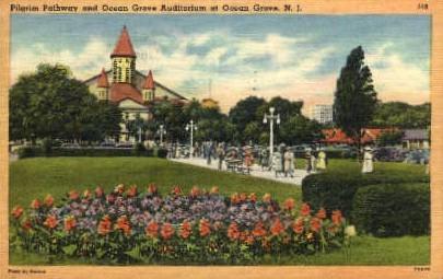 Pilgrim Pathway - Ocean Grove, New Jersey NJ Postcard