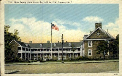 New Jersey State Barracks - Trenton Postcard
