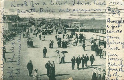 Boardwalk Promenade - Asbury Park, New Jersey NJ Postcard