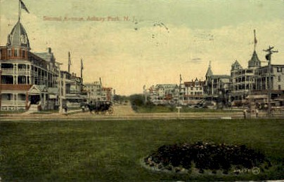 Second Avenue - Asbury Park, New Jersey NJ Postcard