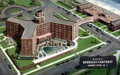 Hotel Berkeley-Carteret - Asbury Park, New Jersey NJ Postcard