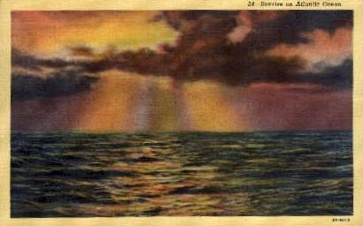 Sunrise - Ocean City, New Jersey NJ Postcard