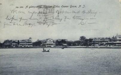 Fletcher Lake - Ocean Grove, New Jersey NJ Postcard