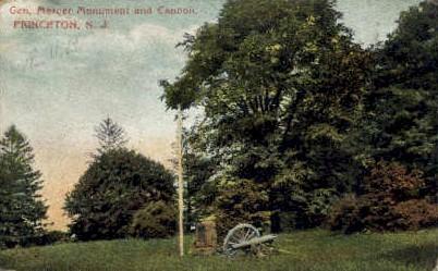Gen. Mercer Monument & Cannon - Princeton, New Jersey NJ Postcard