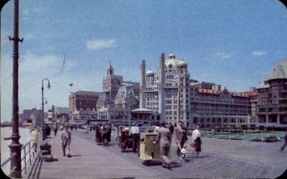 Convention Hall & Hotels - Atlantic City, New Jersey NJ Postcard