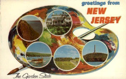 The Garden State New Jersey - Misc Postcard
