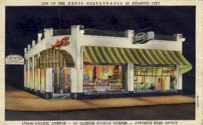 Kents Restaurant at Illinois Ave. - Atlantic City, New Jersey NJ Postcard