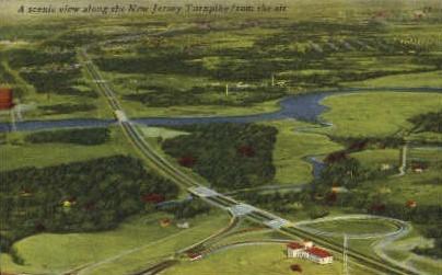 New Jersey Turnpike - New Brunswick Postcard