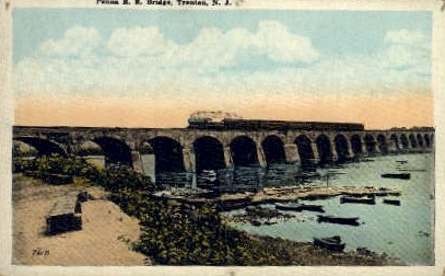 Penna R. R. Bridge - Trenton, New Jersey NJ Postcard