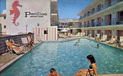 The Pavilion Motor Lodge  - Ocean City, New Jersey NJ Postcard