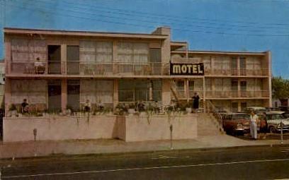 Flamingo Motel - Asbury Park, New Jersey NJ Postcard