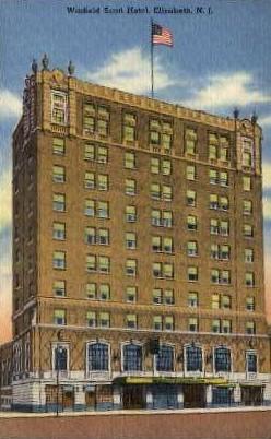 Winfield Scott Hotel - Elizabeth, New Jersey NJ Postcard