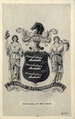 State Seal of New Jersey - Misc Postcard