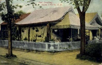 Tent Dwelling - Ocean Grove, New Jersey NJ Postcard