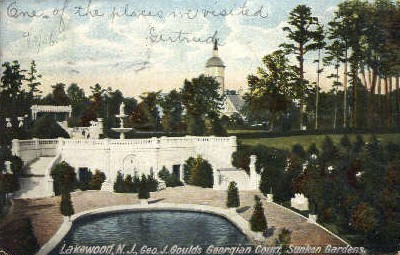 Geo. J. Goulds Gregorian Court - Lakewood, New Jersey NJ Postcard