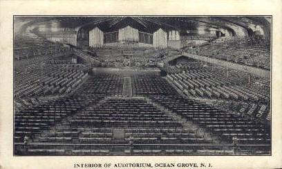 Auditorium  - Ocean Grove, New Jersey NJ Postcard
