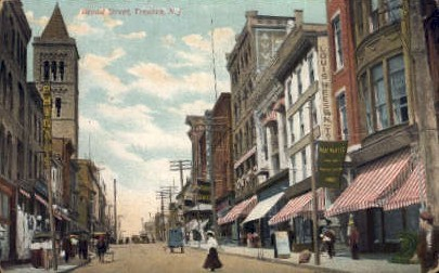 Broad Street - Trenton, New Jersey NJ Postcard
