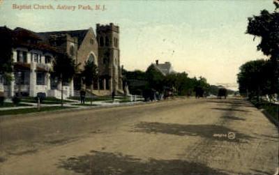Baptist Church - Asbury Park, New Jersey NJ Postcard
