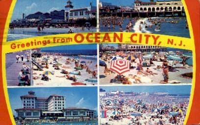 Greetings  - Ocean City, New Jersey NJ Postcard