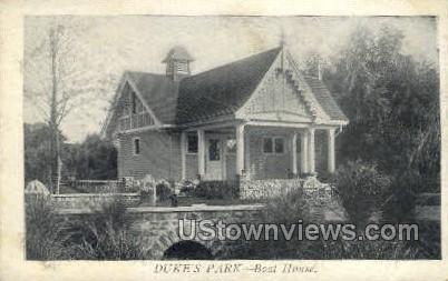 Dukes Park, Boat House - Misc, New Jersey NJ Postcard