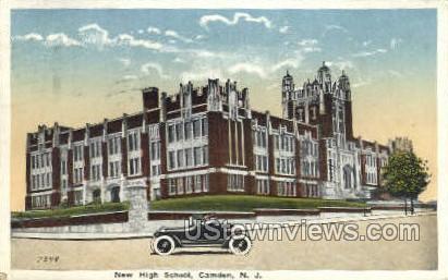 New High School - Camden, New Jersey NJ Postcard