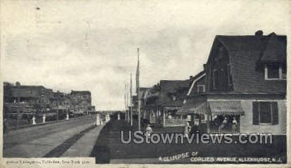 Corlies Ave. - Allenhurst, New Jersey NJ Postcard