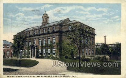 Engineering Bldg, Rutgers College - New Brunswick, New Jersey NJ Postcard