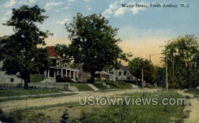 Water Street - Perth Amboy, New Jersey NJ Postcard