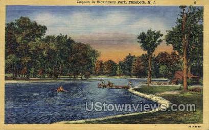 Lagoon, Warinanco Park - Elizabeth, New Jersey NJ Postcard