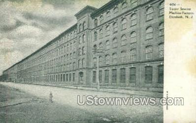 Singer Sewing Machine Factory - Elizabeth, New Jersey NJ Postcard