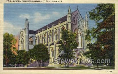 Chapel, Princeton University - New Jersey NJ Postcard