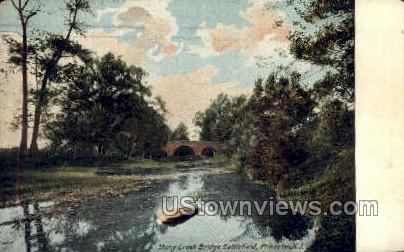 Stony Creek Bridge Battlefield - Princeton, New Jersey NJ Postcard