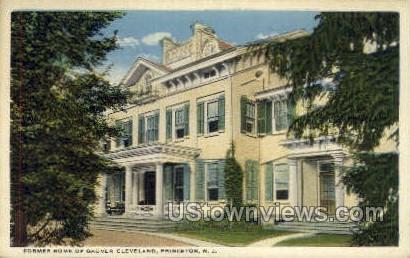 Former Home of Grover Cleveland - Princeton, New Jersey NJ Postcard