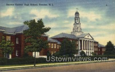 Trenton Central High School - New Jersey NJ Postcard