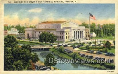 Soldiers' & Sailors' War Memorial Bldg - Trenton, New Jersey NJ Postcard