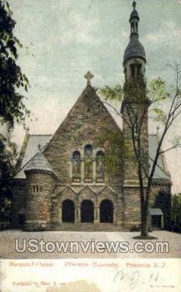 Marquand Chapel, Princeton University - New Jersey NJ Postcard