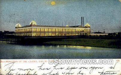 Casino & Pool - Asbury Park, New Jersey NJ Postcard