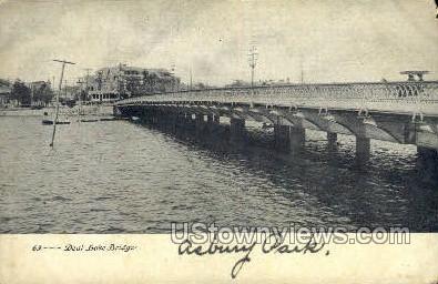 Deal Lake Bridge - Asbury Park, New Jersey NJ Postcard