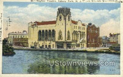 Mayfair Theatre - Asbury Park, New Jersey NJ Postcard