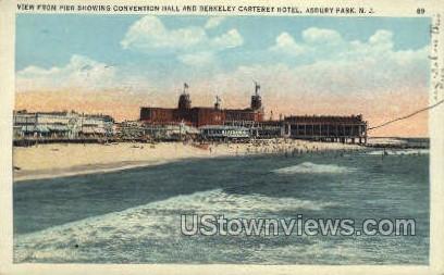 Convention Hall - Asbury Park, New Jersey NJ Postcard